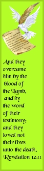 By the blood of the Lamb